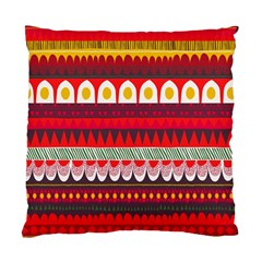 Fabric Aztec Red Line Polka Circle Wave Chevron Star Standard Cushion Case (two Sides) by Mariart