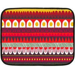 Fabric Aztec Red Line Polka Circle Wave Chevron Star Fleece Blanket (mini) by Mariart