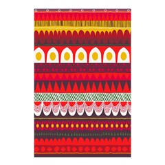 Fabric Aztec Red Line Polka Circle Wave Chevron Star Shower Curtain 48  X 72  (small)  by Mariart