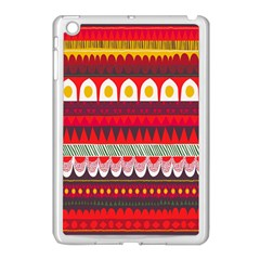 Fabric Aztec Red Line Polka Circle Wave Chevron Star Apple Ipad Mini Case (white) by Mariart