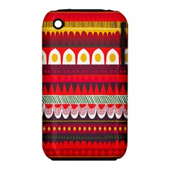 Fabric Aztec Red Line Polka Circle Wave Chevron Star Iphone 3s/3gs by Mariart
