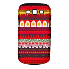 Fabric Aztec Red Line Polka Circle Wave Chevron Star Samsung Galaxy S Iii Classic Hardshell Case (pc+silicone) by Mariart