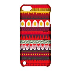 Fabric Aztec Red Line Polka Circle Wave Chevron Star Apple Ipod Touch 5 Hardshell Case With Stand by Mariart