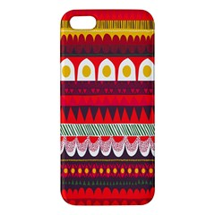Fabric Aztec Red Line Polka Circle Wave Chevron Star Iphone 5s/ Se Premium Hardshell Case by Mariart