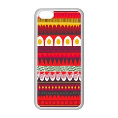 Fabric Aztec Red Line Polka Circle Wave Chevron Star Apple Iphone 5c Seamless Case (white) by Mariart