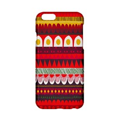 Fabric Aztec Red Line Polka Circle Wave Chevron Star Apple Iphone 6/6s Hardshell Case by Mariart