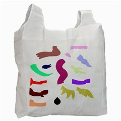 Plushie Color Rainbow Brown Purple Yellow Green Black Recycle Bag (one Side) by Mariart