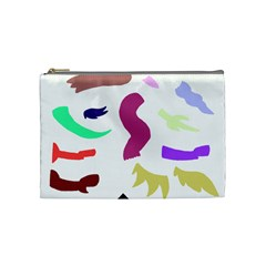 Plushie Color Rainbow Brown Purple Yellow Green Black Cosmetic Bag (medium)  by Mariart