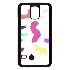 Plushie Color Rainbow Brown Purple Yellow Green Black Samsung Galaxy S5 Case (black) by Mariart
