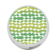 Polkadot Polka Circle Round Line Wave Chevron Waves Green White 4 Port Usb Hub (two Sides)  by Mariart