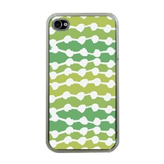 Polkadot Polka Circle Round Line Wave Chevron Waves Green White Apple Iphone 4 Case (clear) by Mariart