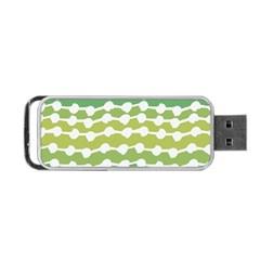 Polkadot Polka Circle Round Line Wave Chevron Waves Green White Portable Usb Flash (one Side) by Mariart