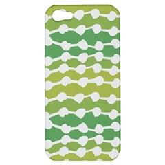 Polkadot Polka Circle Round Line Wave Chevron Waves Green White Apple Iphone 5 Hardshell Case by Mariart