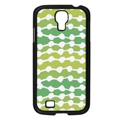 Polkadot Polka Circle Round Line Wave Chevron Waves Green White Samsung Galaxy S4 I9500/ I9505 Case (black) by Mariart
