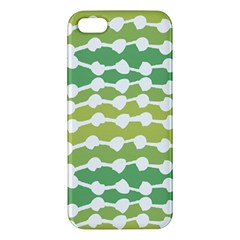Polkadot Polka Circle Round Line Wave Chevron Waves Green White Iphone 5s/ Se Premium Hardshell Case by Mariart