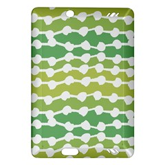 Polkadot Polka Circle Round Line Wave Chevron Waves Green White Amazon Kindle Fire Hd (2013) Hardshell Case by Mariart