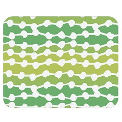 Polkadot Polka Circle Round Line Wave Chevron Waves Green White Double Sided Flano Blanket (medium)  by Mariart