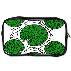 Leaf Green Toiletries Bags by Mariart