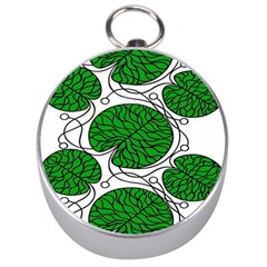 Leaf Green Silver Compasses by Mariart