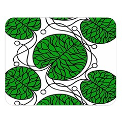 Leaf Green Double Sided Flano Blanket (large)  by Mariart