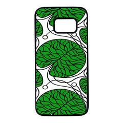 Leaf Green Samsung Galaxy S7 Black Seamless Case by Mariart