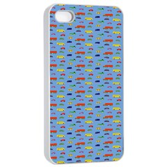 Miniature Car Buses Trucks School Buses Apple Iphone 4/4s Seamless Case (white) by Mariart