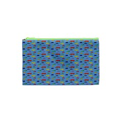 Miniature Car Buses Trucks School Buses Cosmetic Bag (xs) by Mariart