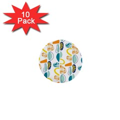 Pebbles Texture Mid Century 1  Mini Buttons (10 Pack)  by Mariart