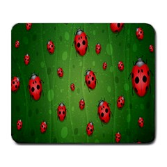 Ladybugs Red Leaf Green Polka Animals Insect Large Mousepads by Mariart