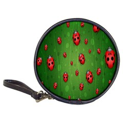 Ladybugs Red Leaf Green Polka Animals Insect Classic 20 Cd Wallets by Mariart