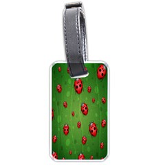 Ladybugs Red Leaf Green Polka Animals Insect Luggage Tags (two Sides) by Mariart
