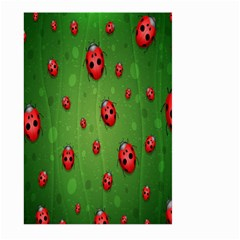 Ladybugs Red Leaf Green Polka Animals Insect Large Garden Flag (two Sides) by Mariart