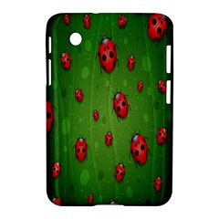 Ladybugs Red Leaf Green Polka Animals Insect Samsung Galaxy Tab 2 (7 ) P3100 Hardshell Case  by Mariart