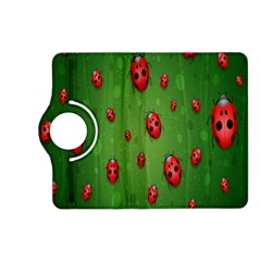 Ladybugs Red Leaf Green Polka Animals Insect Kindle Fire Hd (2013) Flip 360 Case by Mariart
