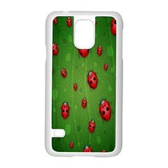 Ladybugs Red Leaf Green Polka Animals Insect Samsung Galaxy S5 Case (white) by Mariart