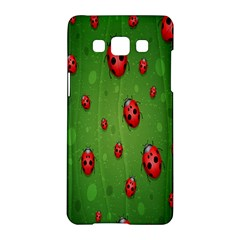 Ladybugs Red Leaf Green Polka Animals Insect Samsung Galaxy A5 Hardshell Case  by Mariart