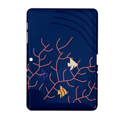 Sea Ocean Beach Swim Fish Wave Waves Chevron Blue Water Samsung Galaxy Tab 2 (10 1 ) P5100 Hardshell Case  by Mariart