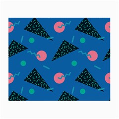Seamless Triangle Circle Blue Waves Pink Small Glasses Cloth by Mariart