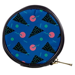 Seamless Triangle Circle Blue Waves Pink Mini Makeup Bags by Mariart