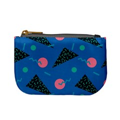 Seamless Triangle Circle Blue Waves Pink Mini Coin Purses by Mariart
