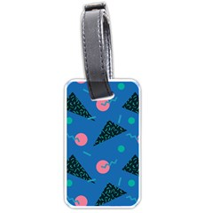 Seamless Triangle Circle Blue Waves Pink Luggage Tags (one Side)  by Mariart
