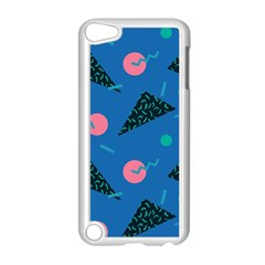 Seamless Triangle Circle Blue Waves Pink Apple Ipod Touch 5 Case (white) by Mariart