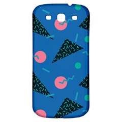 Seamless Triangle Circle Blue Waves Pink Samsung Galaxy S3 S Iii Classic Hardshell Back Case by Mariart