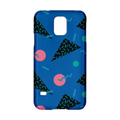 Seamless Triangle Circle Blue Waves Pink Samsung Galaxy S5 Hardshell Case  by Mariart