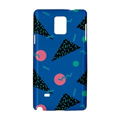 Seamless Triangle Circle Blue Waves Pink Samsung Galaxy Note 4 Hardshell Case by Mariart
