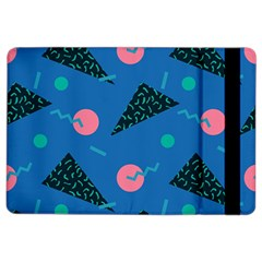 Seamless Triangle Circle Blue Waves Pink Ipad Air 2 Flip by Mariart