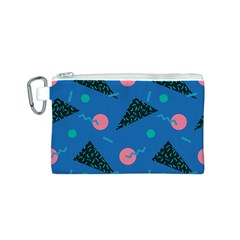 Seamless Triangle Circle Blue Waves Pink Canvas Cosmetic Bag (s) by Mariart