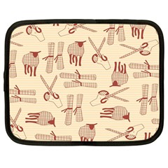 Sheep Goats Paper Scissors Netbook Case (large) by Mariart