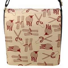 Sheep Goats Paper Scissors Flap Messenger Bag (s) by Mariart