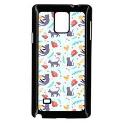 Redbubble Animals Cat Bird Flower Floral Leaf Fish Samsung Galaxy Note 4 Case (black) by Mariart